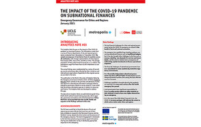 Analytics Note #03 - The impact of The COVID-19 Pandemic On Subnational Finances