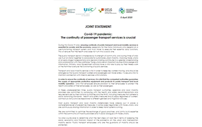 JOINT STATEMENT Covid-19 pandemic: The continuity of passenger transport services is crucial