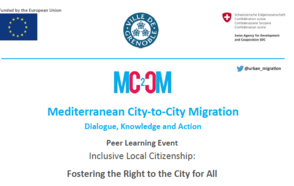 Towards Inclusive Local Citizenship and Universal Right to the City - MC2CM and UCLG-CSIPDHR host virtual peer learning event in Grenoble