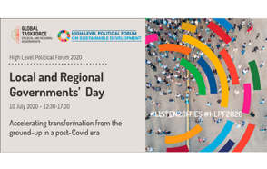 Local and Regional Governments call for the co-creation of a sustainable recovery at the Local and Regional Governments' Day in the 2020 HLPF