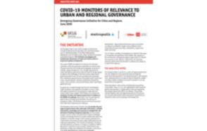 Monitores de la covid-19 relevantes para la gobernanza urbana y regional AN01