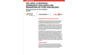 Emergency Governance for Cities and Regions Analitycs Note #02