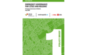 Emergency Governance for Cities and Regions Policy Brief #01