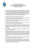 6eme Forum Mondial de l'Eau. Message dAutorités Locales et Régionales. Marseille 2012