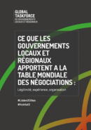 Ce que les gouvernements locaux et régionaux apportent à la table des négociations