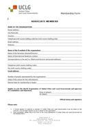 Associate members form