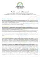 Feuille de Route de Marrakech