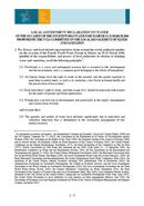 Local Government declaration on water. Mexico. 2006