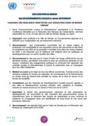 Déclaration Sendai des gouvernements locaux et infra-nationaux