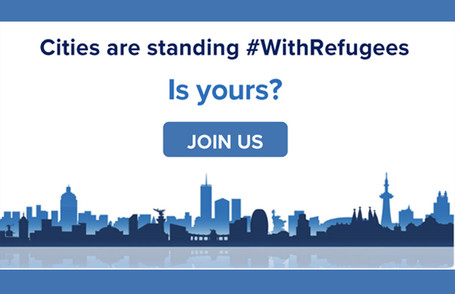 Cities are standing #WithRefugees