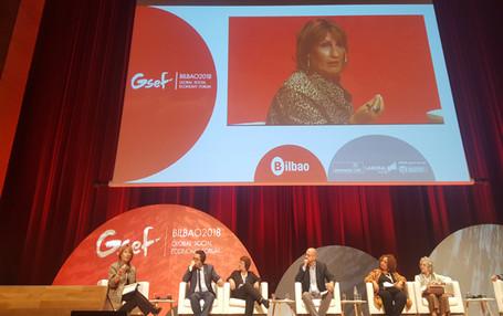 Session d'apprentissage de CGLU sur l'économie circulaire et sociale au Forum Mondial de l'Economie Sociale  à Bilbao