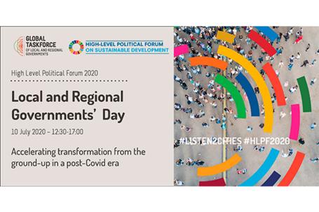 Les collectivités territoriales appellent à la co-création d'une relance durable lors de la Journée des gouvernements locaux et régionaux dans le cadre du FPHN 2020