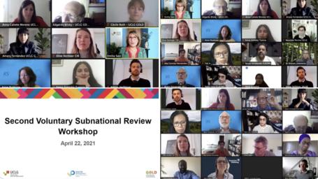 Talleres del Informe Subnacional Voluntario