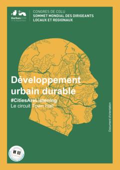 Développment urbain durable - Document d'orientation