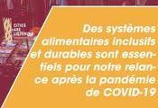 Des systèmes alimentaires inclusifs et durables sont essentiels pour notre relance après la pandémie de COVID-19