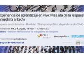 La movilidad, piedra angular de los servicios públicos en medio de la pandemia COVID-19
